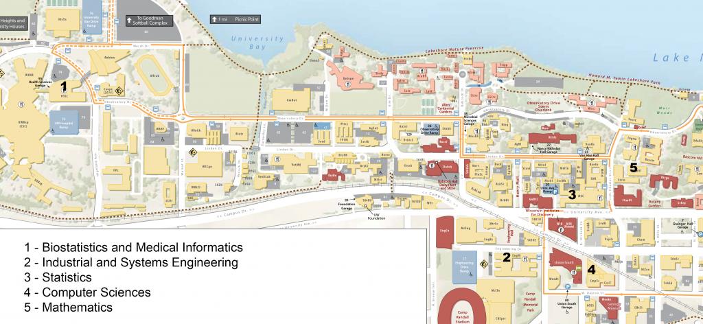 UW Madison Map inset